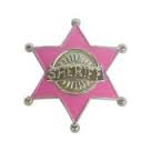 Sheriff badge - pink
