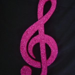 Music note decoration