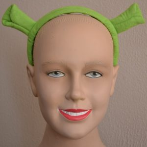 Shrek ears on headband