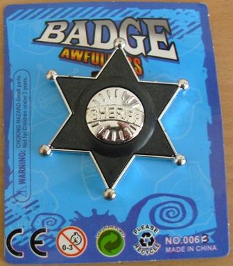 Western sheriff lawman badge