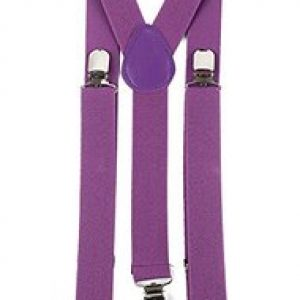 Purple suspenders
