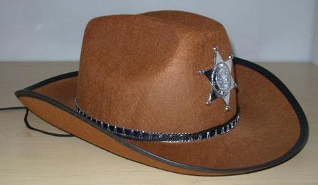 c9114fe1e1337 Brown sheriff hat – Code  4227 – Scalliwags