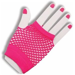 80's fishnet gloves