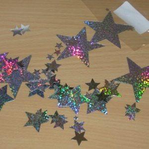 Silver star table decor