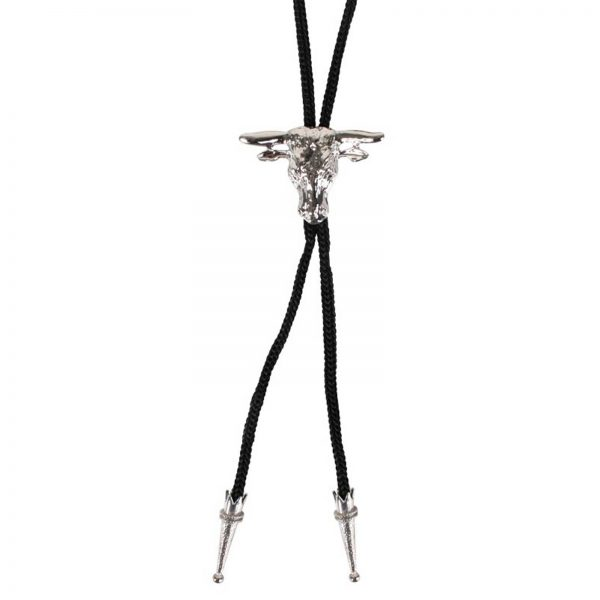 String tie with steers head