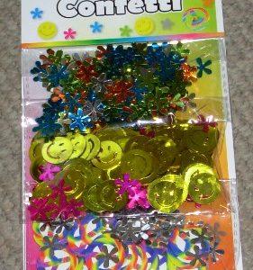 Hippie themed confetti