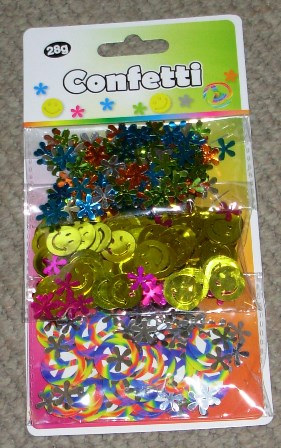 Hippie themed confetti