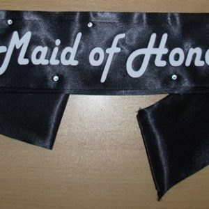 Bridal shower sashes