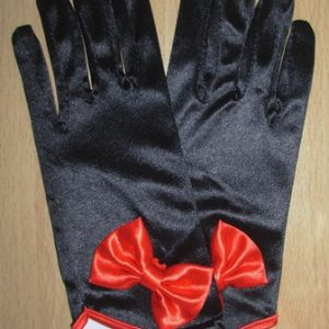 Short satin ladies gloves