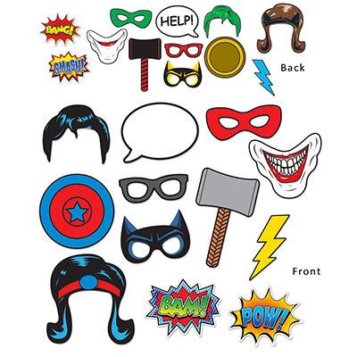 Superhero photo booth props
