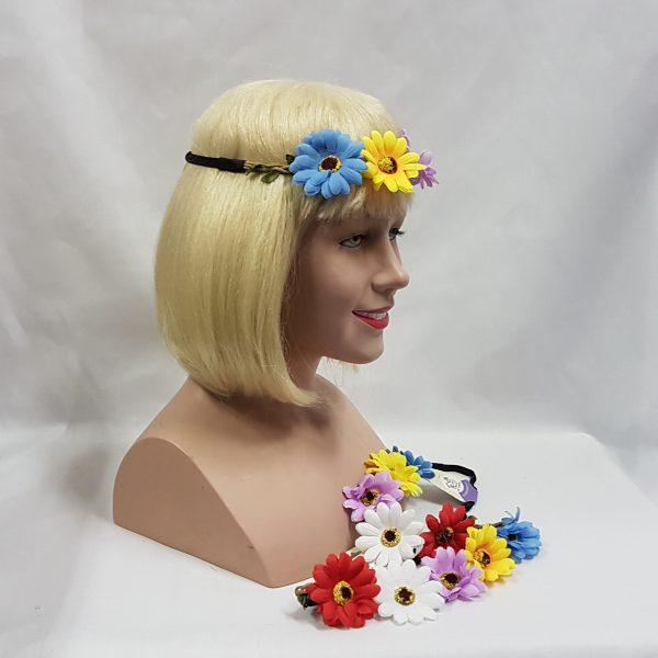 Flower headband side view