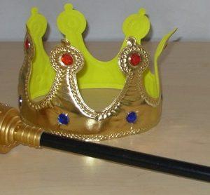 Royal crown & sceptre set