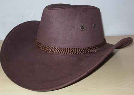 Cowboy hat brown suede