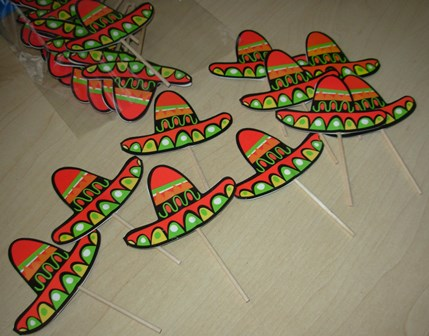 Mexican cupcake toppers