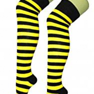 Yellow & black stripe socks
