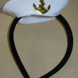 Mini sailors hat on headband