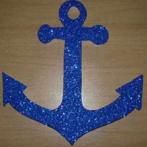 Blue glitter polystyrene anchor