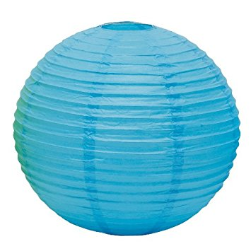 Blue paper lantern 30cm