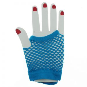 Fishnet gloves - short - blue