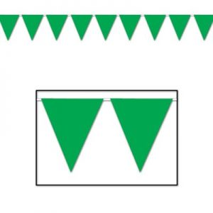 Green pennant banner