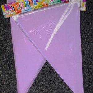 Mauve pennant banner
