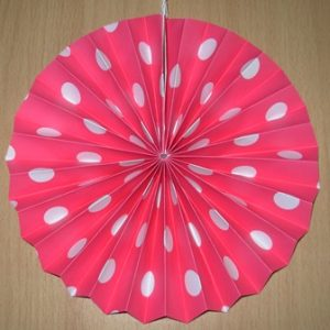 Polka dot fan decoration pink