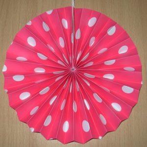 Polka dot fan decoration pink