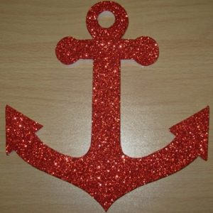 Red polystyrene anchor