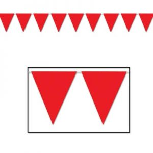 Red pennant banner
