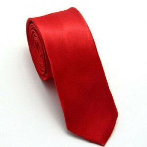 Red satin tie