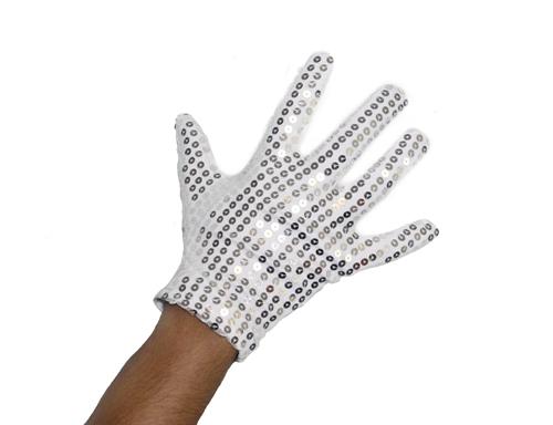 Sequin silver glove