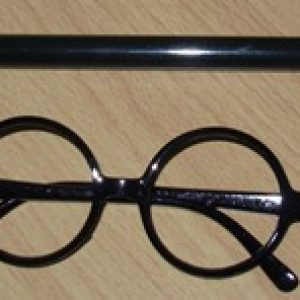 Wizard wand & glasses set