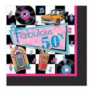 Fabulous 50's napkins