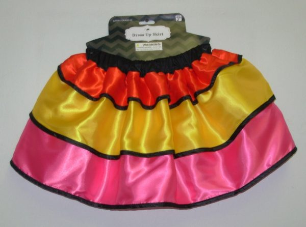 Frilled colourful skirt