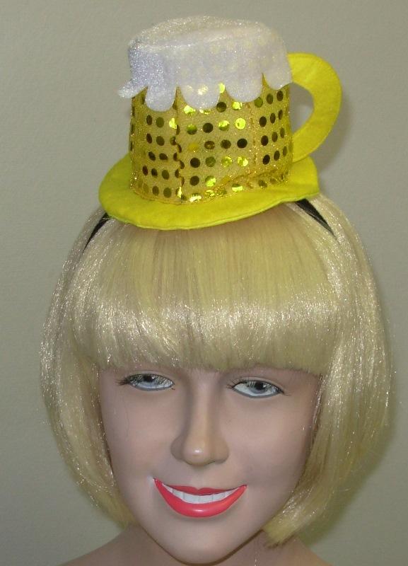Mini beer mug hat with headband