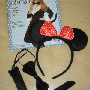 Mouse set with polka dot bow