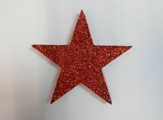 Red glitter star