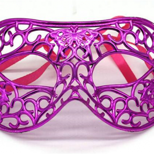 Filigree butterfly mask - pink