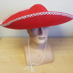 Red mexican sombrero