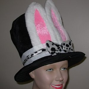 velvet top hat with bunny ears