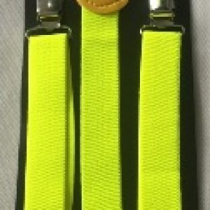 Neon yellow suspenders