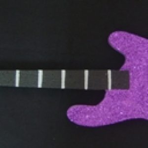 Purple polystyrene guitar