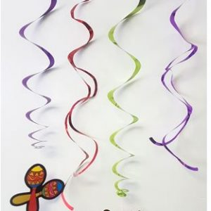 Fiesta swirl metallic decorations