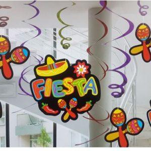 Fiesta swirl decoration
