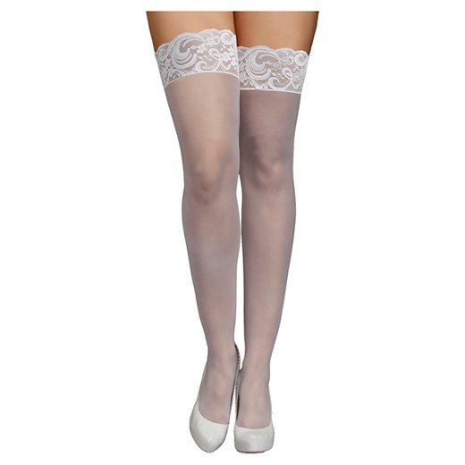 White thigh highs with lace top