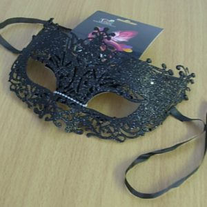 Glitter eye mask - black