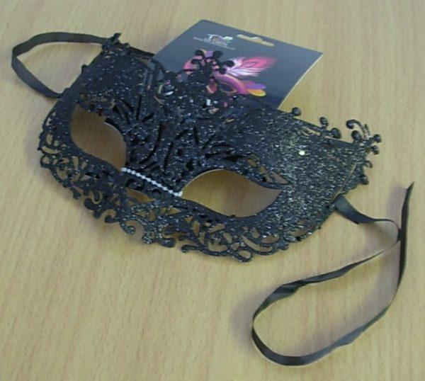 Glitter eye mask - black