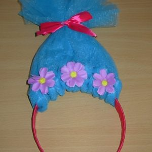 Blue troll headband