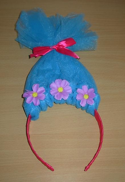 Blue troll headband