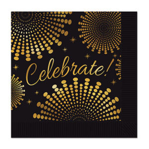 Black & gold napkins